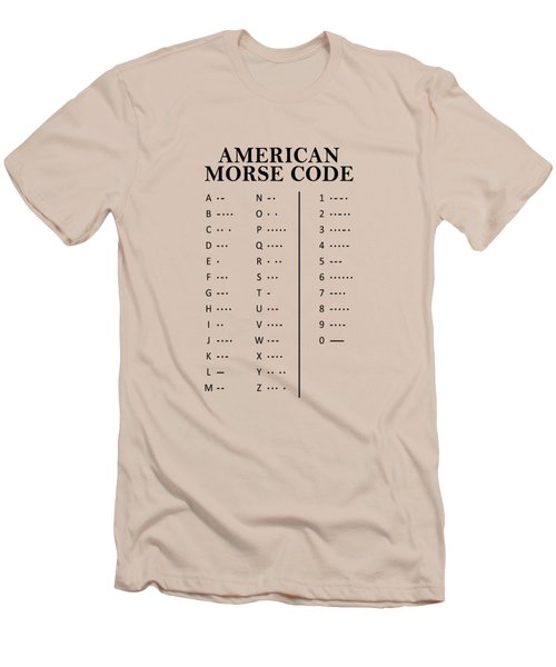 American Morse Code Men's T-Shirt (Slim Fit) by Mark Rogan