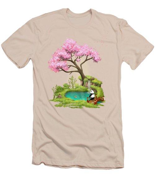 Anjing II - The Zen Garden Men's T-Shirt (Slim Fit) by Carlos M R Alves