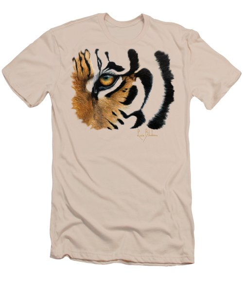 Tiger Eye Men's T-Shirt (Slim Fit) by Lucie Bilodeau