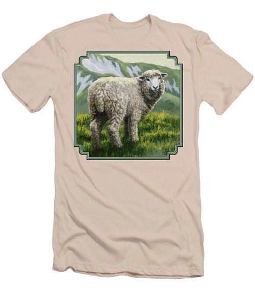 Highland Ewe Men's T-Shirt (Slim Fit) by Crista Forest