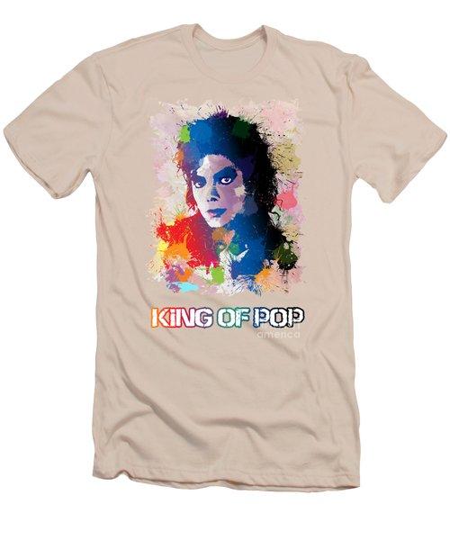 King Of Pop Men's T-Shirt (Slim Fit) by Anthony Mwangi