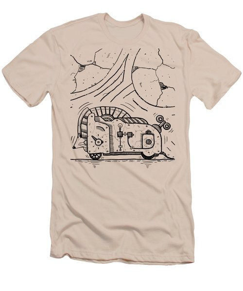 Moto Mouse Men's T-Shirt (Slim Fit) by Erki Schotter