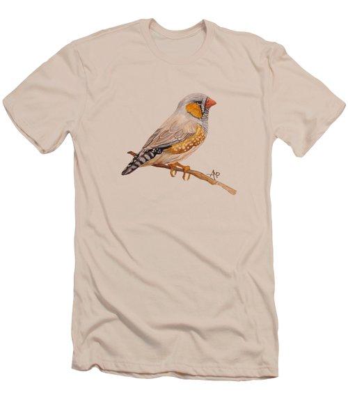 Zebra Finch Men's T-Shirt (Slim Fit) by Angeles M Pomata