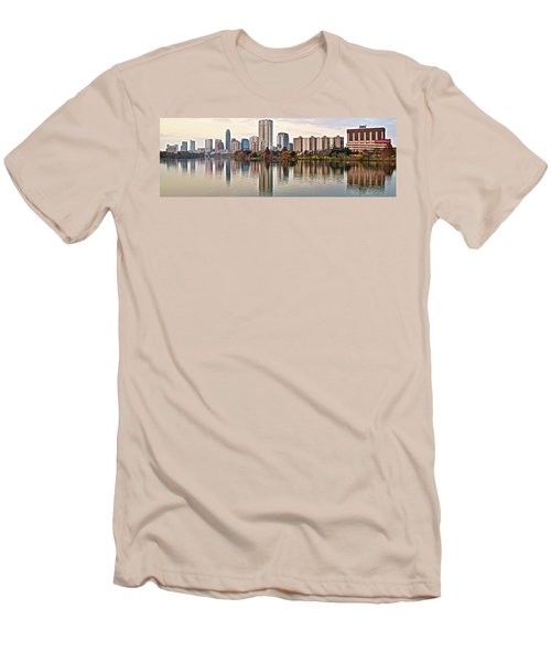 Austin Wide Shot Men's T-Shirt (Slim Fit) by Frozen in Time Fine Art Photography