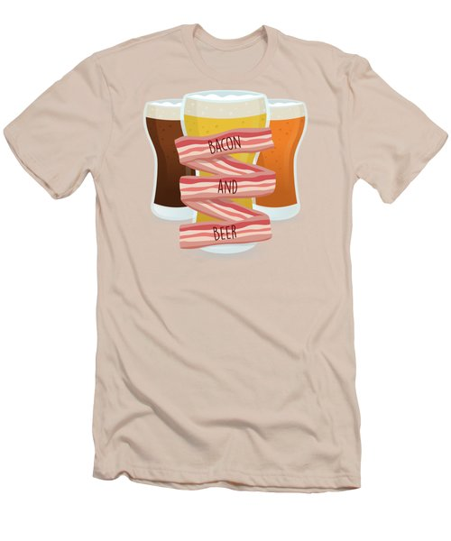 Bacon And Beer Men's T-Shirt (Slim Fit) by Renato Kolberg