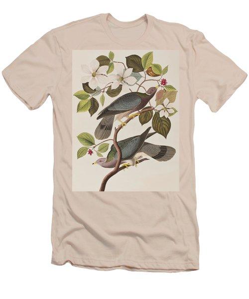 Band-tailed Pigeon  Men's T-Shirt (Slim Fit) by John James Audubon