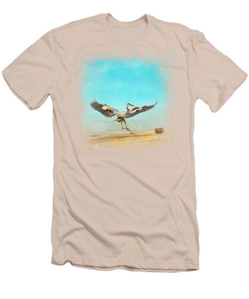Beach Dancing Men's T-Shirt (Slim Fit) by Jai Johnson