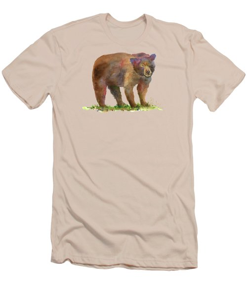 Bear Men's T-Shirt (Slim Fit) by Amy Kirkpatrick