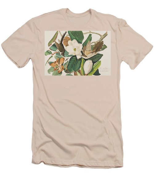 Black Billed Cuckoo Men's T-Shirt (Slim Fit) by John James Audubon