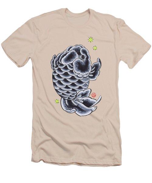 Black Ranchu Men's T-Shirt (Slim Fit) by Shih Chang Yang