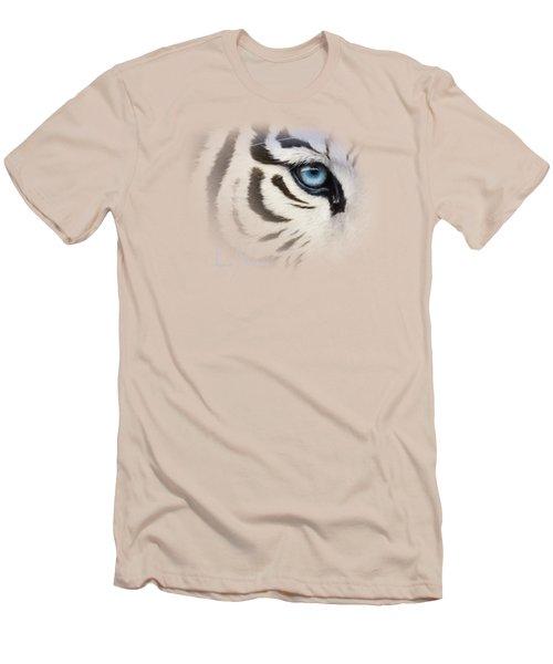 Blue Eye Men's T-Shirt (Slim Fit) by Lucie Bilodeau