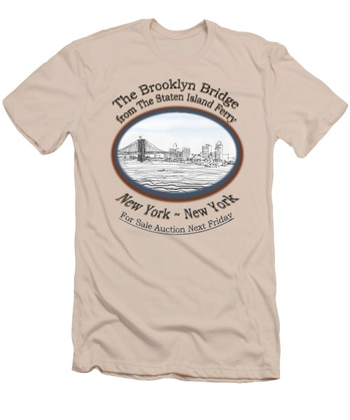 Brooklyn Bridge Men's T-Shirt (Slim Fit) by James Lewis Hamilton