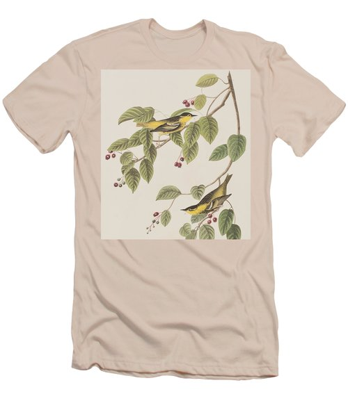 Carbonated Warbler Men's T-Shirt (Slim Fit) by John James Audubon