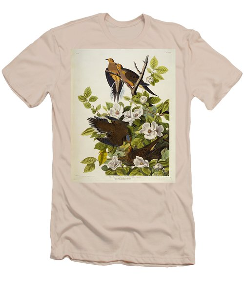 Carolina Turtledove Men's T-Shirt (Slim Fit) by John James Audubon