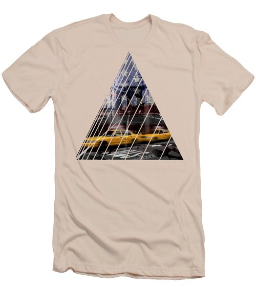 City-art Nyc Composing Men's T-Shirt (Slim Fit) by Melanie Viola