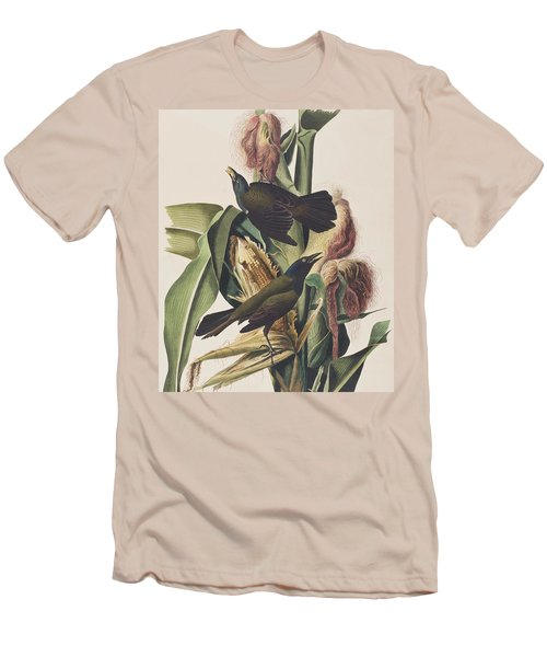 Common Crow Men's T-Shirt (Slim Fit) by John James Audubon