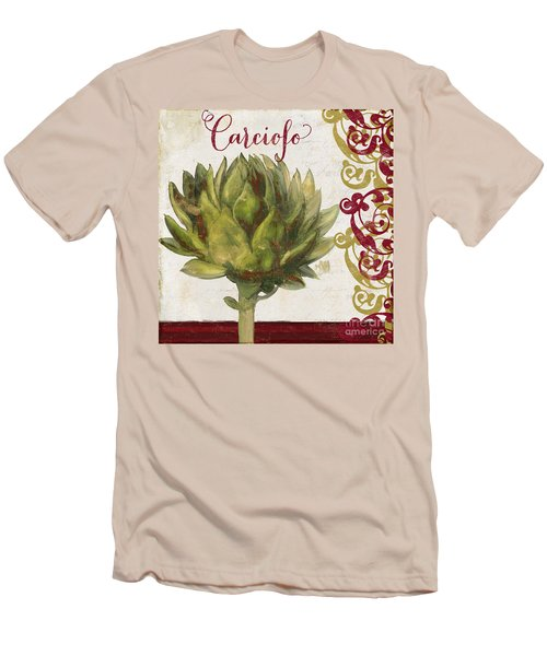 Cucina Italiana Artichoke Men's T-Shirt (Slim Fit) by Mindy Sommers