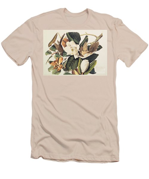 Cuckoo On Magnolia Grandiflora Men's T-Shirt (Slim Fit) by John James Audubon