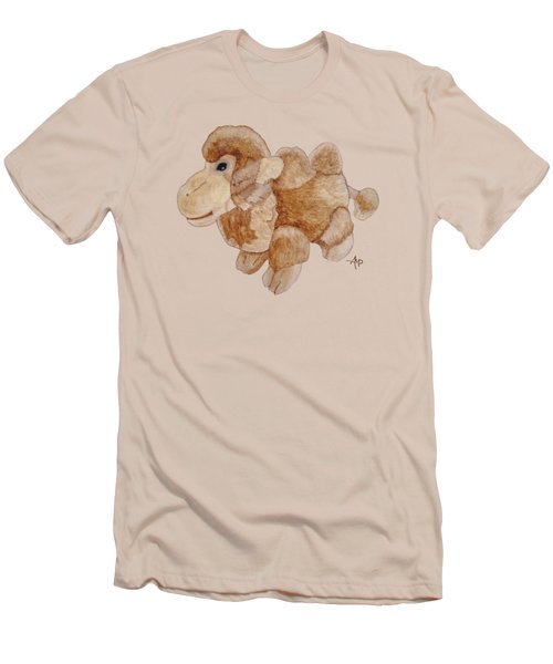 Cuddly Camel Men's T-Shirt (Slim Fit) by Angeles M Pomata