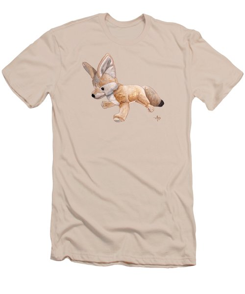 Cuddly Snow Fox Men's T-Shirt (Slim Fit) by Angeles M Pomata