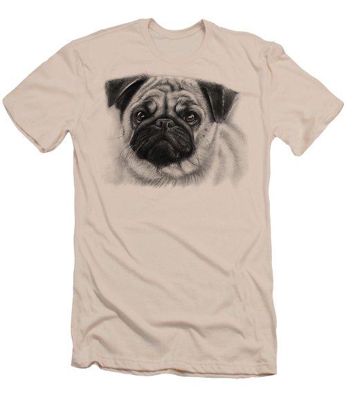 Cute Pug Men's T-Shirt (Slim Fit) by Olga Shvartsur