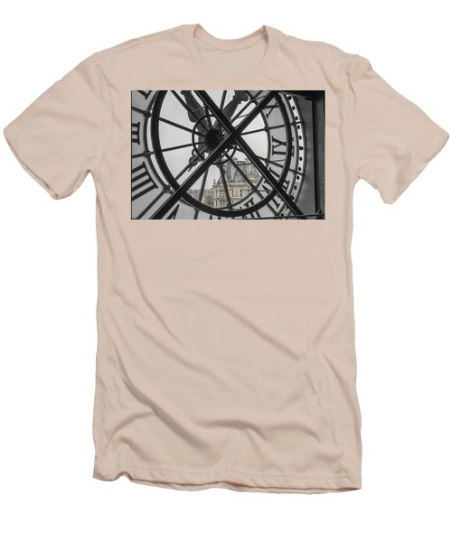 D'orsay Clock Paris Men's T-Shirt (Slim Fit) by Joan Carroll