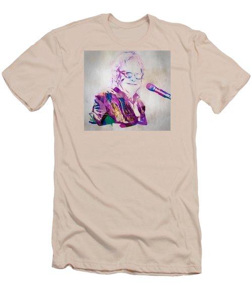 Elton John Men's T-Shirt (Slim Fit) by Dan Sproul