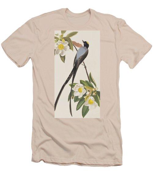 Fork-tailed Flycatcher  Men's T-Shirt (Slim Fit) by John James Audubon