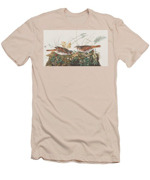 Fox Sparrow Men's T-Shirt (Slim Fit) by John James Audubon