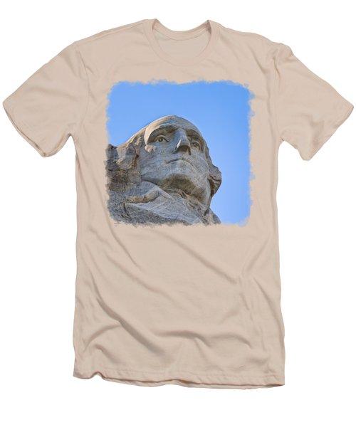 George Washington 3 Men's T-Shirt (Slim Fit) by John M Bailey