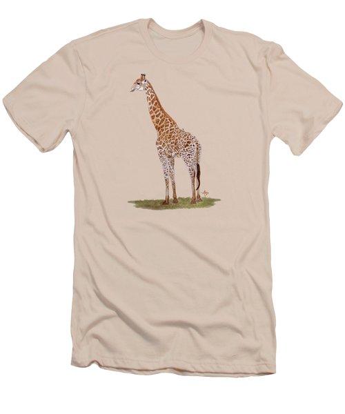 Giraffe Men's T-Shirt (Slim Fit) by Angeles M Pomata