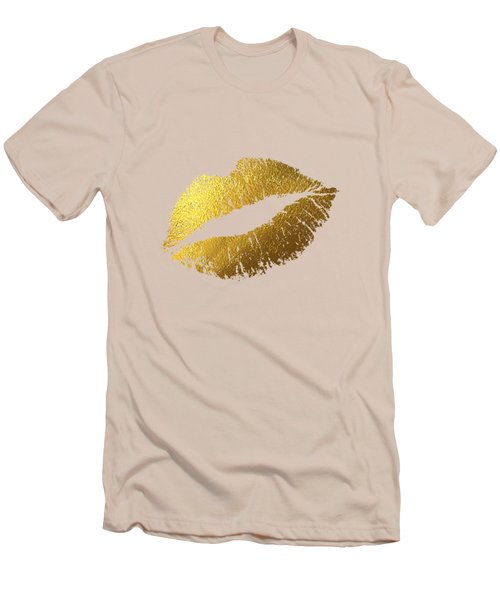 Gold Lips Men's T-Shirt (Slim Fit) by Bekare Creative