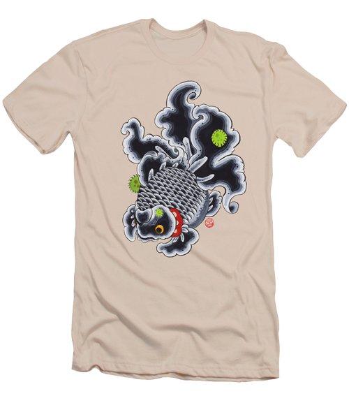 Goldfish Black Men's T-Shirt (Slim Fit) by Shih Chang Yang