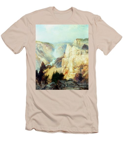 Grand Canyon Of The Yellowstone Park Men's T-Shirt (Slim Fit) by Thomas Moran