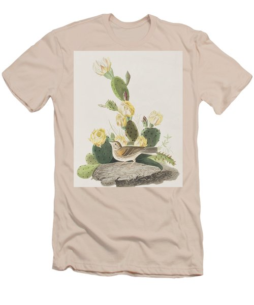 Grass Finch Or Bay Winged Bunting Men's T-Shirt (Slim Fit) by John James Audubon