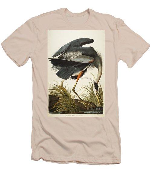 Great Blue Heron Men's T-Shirt (Slim Fit) by John James Audubon