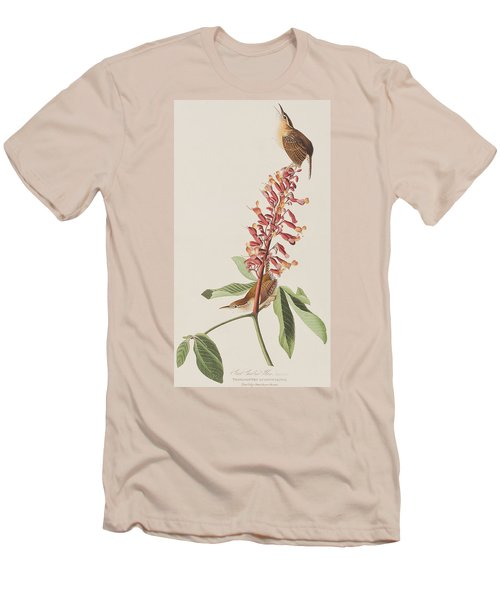 Great Carolina Wren Men's T-Shirt (Slim Fit) by John James Audubon