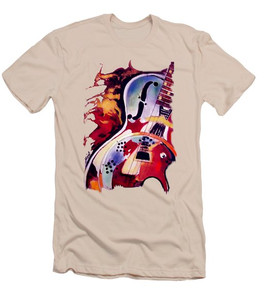Guitar Flow Men's T-Shirt (Slim Fit) by Melanie D