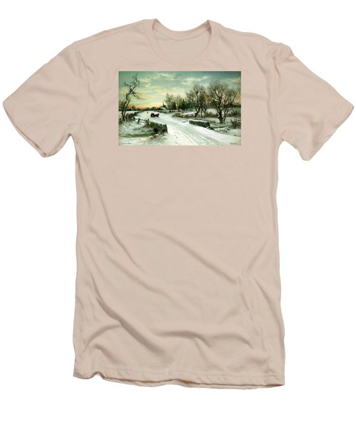 Men's T-Shirt (Slim Fit) featuring the painting Happy Holidays by Travel Pics