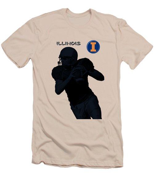 Illinois Football Men's T-Shirt (Slim Fit) by David Dehner