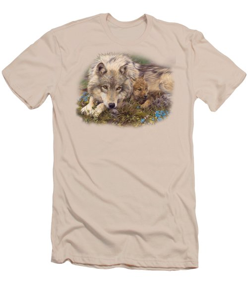 In A Safe Place Men's T-Shirt (Slim Fit) by Lucie Bilodeau
