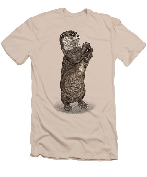 Infatuated Otter Men's T-Shirt (Slim Fit) by ZH Field