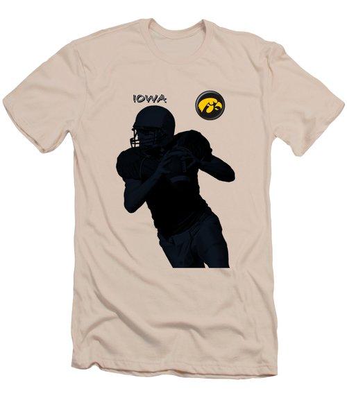 Iowa Football  Men's T-Shirt (Slim Fit) by David Dehner