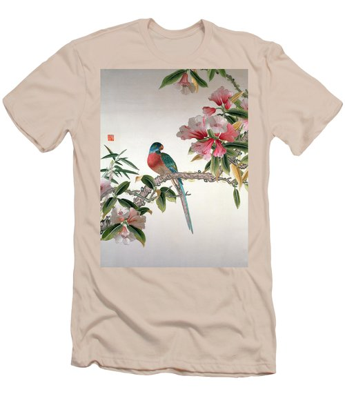 Jay On A Flowering Branch Men's T-Shirt (Slim Fit) by Chinese School