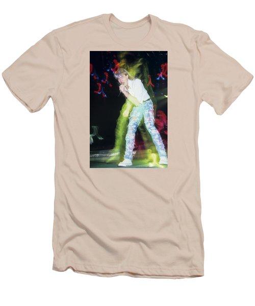 Joe Elliott Of Def Leppard Men's T-Shirt (Slim Fit) by Rich Fuscia