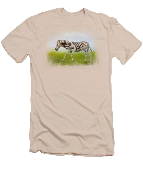 Journey Of The Zebra Men's T-Shirt (Slim Fit) by Jai Johnson