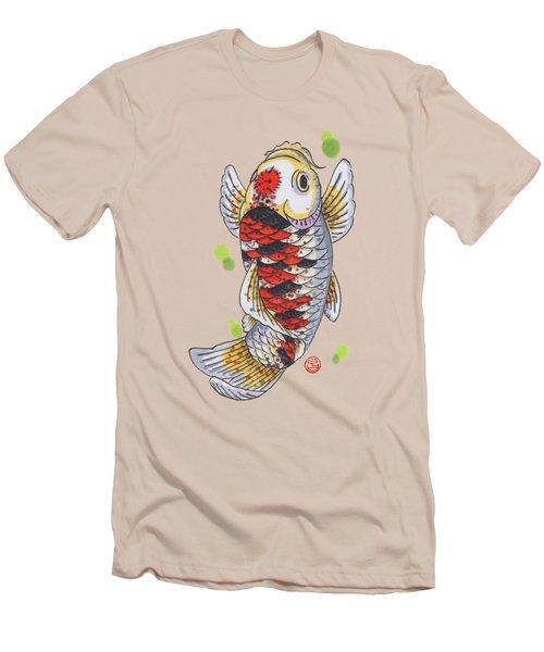 Koi Fish Men's T-Shirt (Slim Fit) by Shih Chang Yang