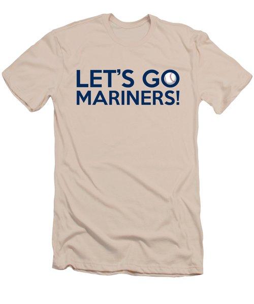 Let's Go Mariners Men's T-Shirt (Slim Fit) by Florian Rodarte