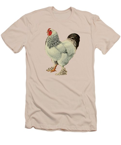 Light Brahmas Rooster Men's T-Shirt (Slim Fit) by Unknown
