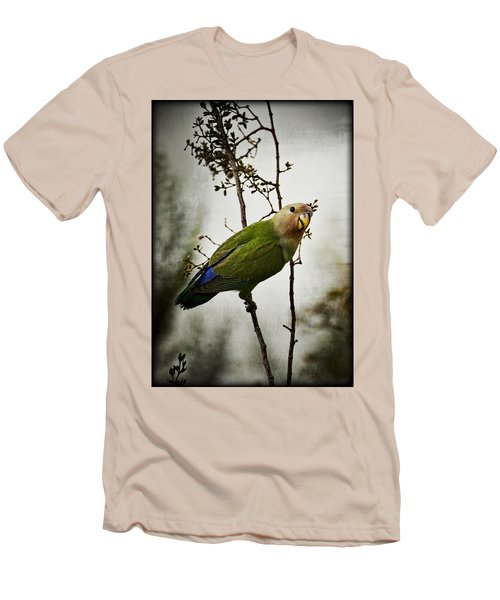Lovebird  Men's T-Shirt (Slim Fit) by Saija  Lehtonen